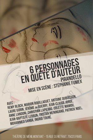 6 PERSONNAGES EN QUETE D'AUTEUR